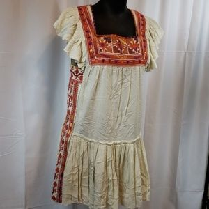 Free people Boho Embroidered dress/tunic S